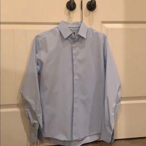 Express Men's 1MX Dress Shirt light blue and xslim